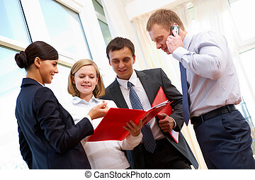 Consultation - Image of business people consulting during...