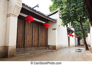 tradycyjny, aleja,  tranqui, Chińczyk
