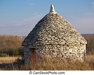 stone house - old stone house used as a shelter for people...