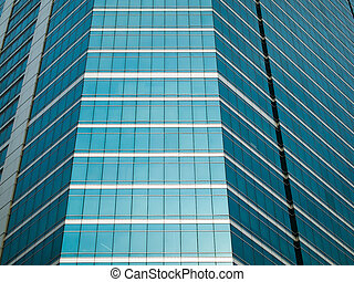 Panel glass windows of modern buildings