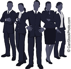 Young dynamic business team - Illustration of a young...