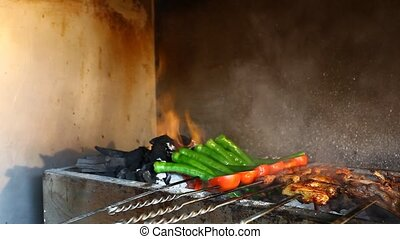 food background - turkish kebab