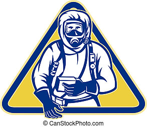 Hazardous Chemical HazChem Suit - Illustration of a worker...