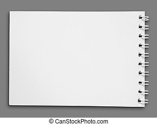Blank one face white paper note book