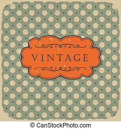 Polka dot design, vintage styled background