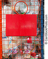 Bins For plastic waste - Bins made of painted steel wire For...