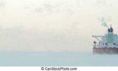 Freezing arctic industry - A bulk carrier in extreme cold...