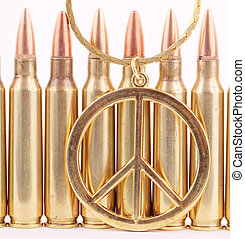 peace sign - A peace sign with 5.56mm cartridges