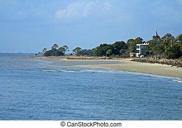 Georgia coast St Simons Island - Georgia coastline near...