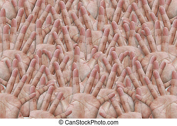 hand - Background from  human hands .