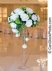 bianco, fiori, matrimonio