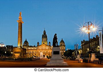 GLASGOW : GEORGE SQUARE IN THE MERCHANT CITY GLASGOW CITY...