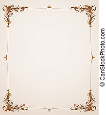 vintage frame with foliage