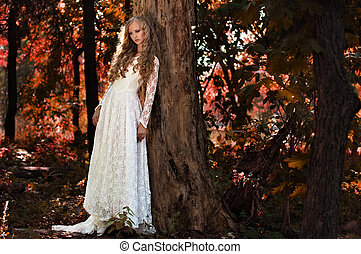 fairy bride in the woods