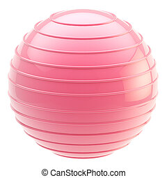 Fitness gym pink ball isolated