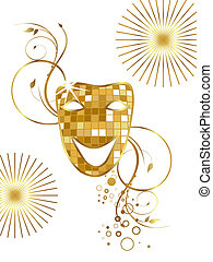 Venetian mask - vector illustration of a carnivale mask on a...