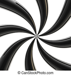 Abstract hypnosis background made of twirls - Abstract...