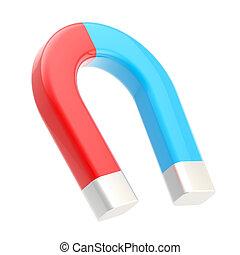 Horseshoe glossy magnet isolated on white