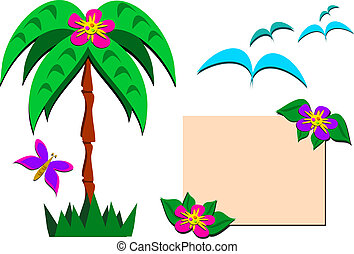 Mix of Tropical Pictures - This is a mixture of tropical...