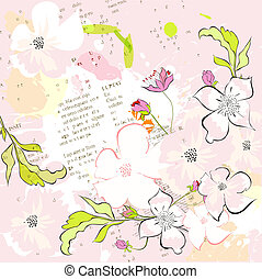 Colorful spring background