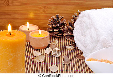 spa concept with candels