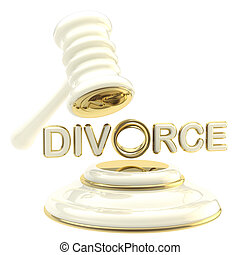Divorce under the judge gavel isolated - Divorce and...