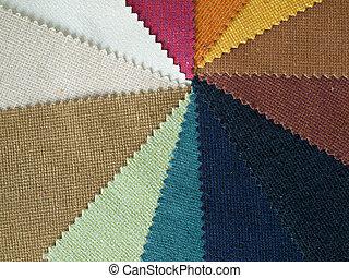 Sample multicolor fabric