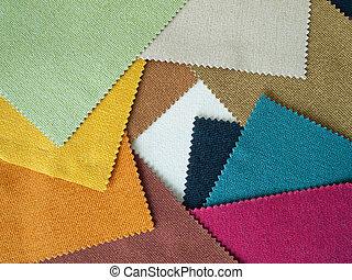 Sample multi-colored cotton