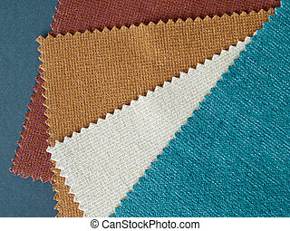 Sample nature tone color fabric for making furniture