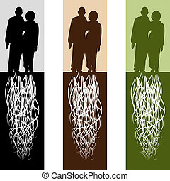 Married Couple - An image of a rooted married couple.