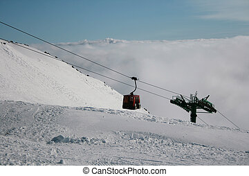 Cableway in the Etna Volcan, Sicily - Italy