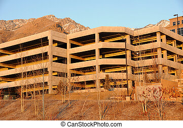 Multi-story Car Garage near the Mountains