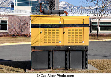 Diesel-Powered Backup Generator at Business Offices