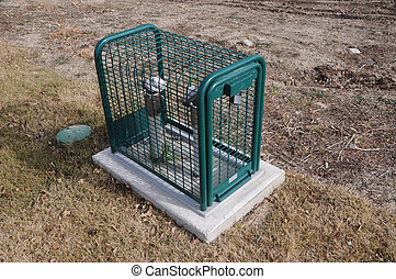 Rubberized Steel Cage to Protect Road-side Utilities