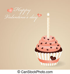 Gretting card - Valentines day greeting card with cute...