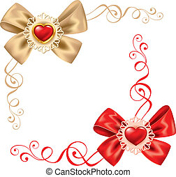 Valentines Day set Cute rosette for your design
