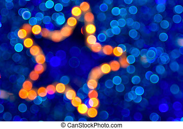 christmas star boke abstract background