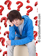 So much questions - teenager boy wondering