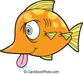 Crazy Insane Fish Vector