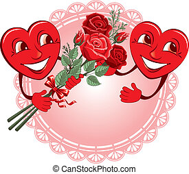 Two lovers heart