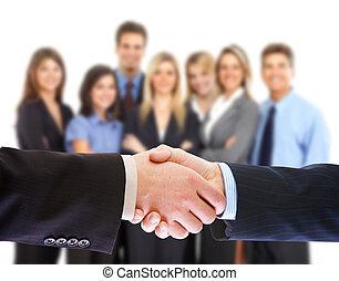人々, 握手, ビジネス, ミーティング