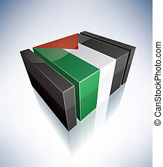 3D flag of Palestine