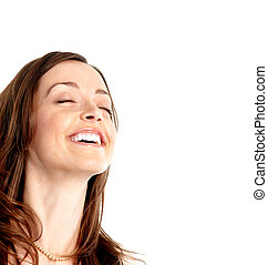 Young happy woman - Happy young beautiful woman portrait...