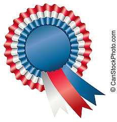 Tri-Color Rosette Ribbon - Three Colors of Rosette Ribbon