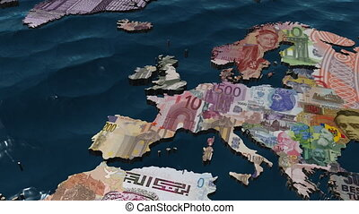 UK Pound Currency Map - 3D HD Zoom into the UK with the...