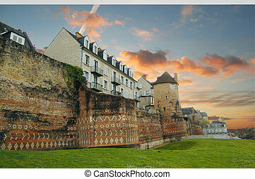 Le Mans - Historical buildings in Le Mans city, France