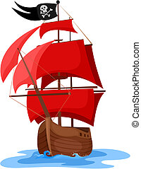 ship - vector illustration of a pirate ship
