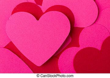 Cor-de-rosa, corações, vermelho