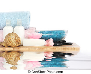 body care and relaxation - set of objects for body care and...