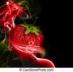 Fantastic Strawberry - A fantastic strawberry in the colored...